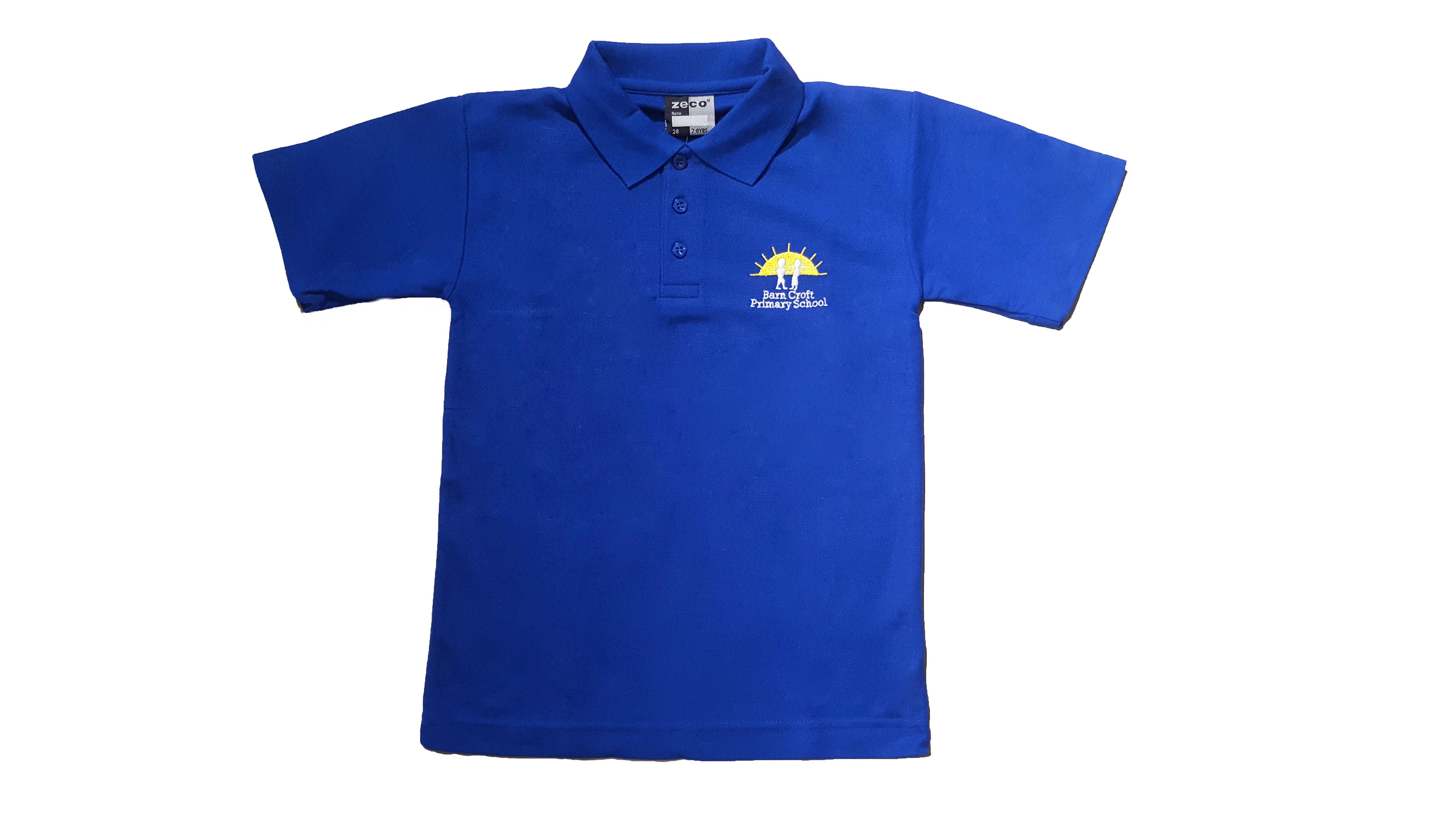 Barn Croft Royal Blue Polo Shirt