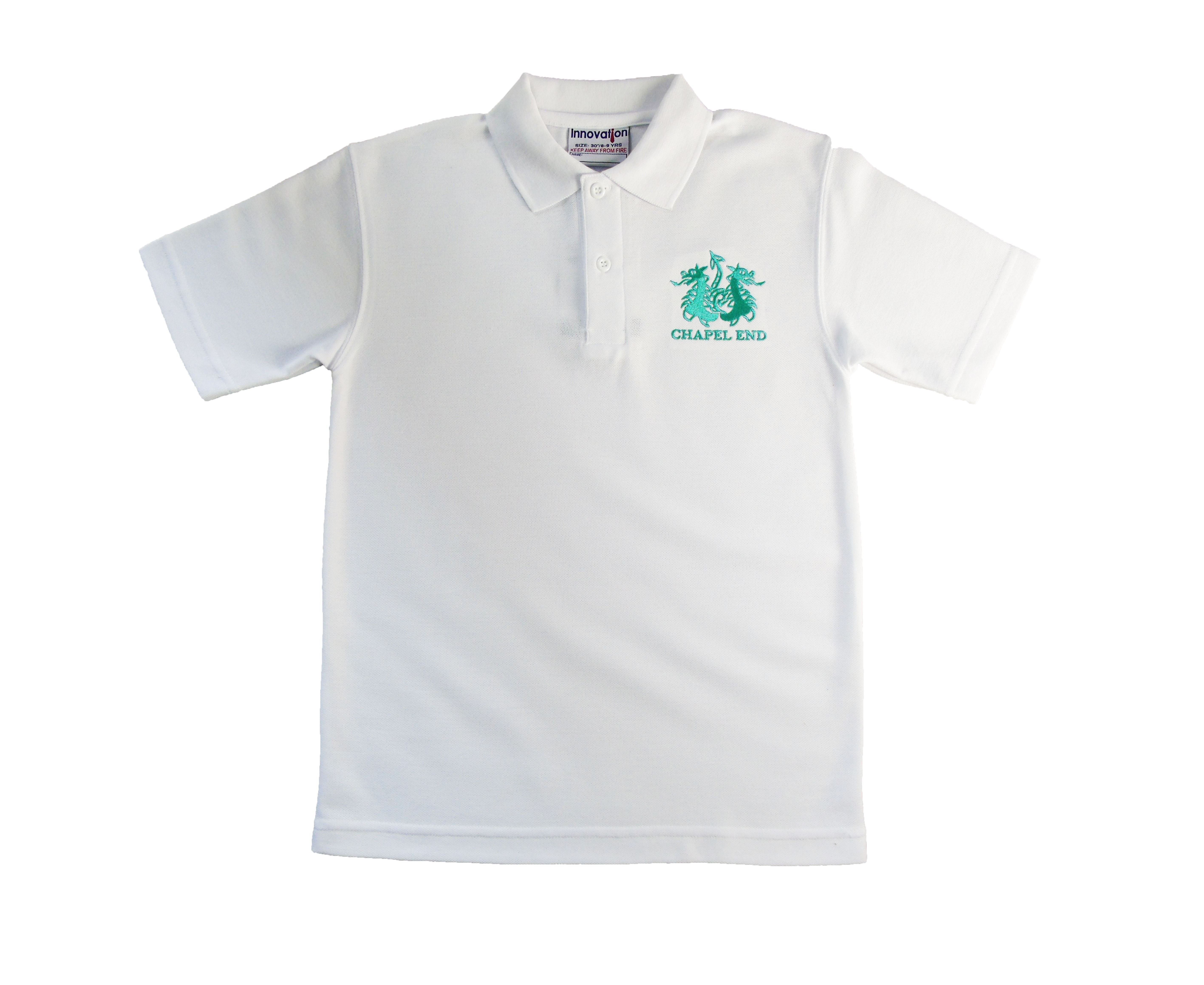 Chapel End Junior White Poloshirt