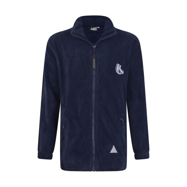 KELMSCOTT NAVY FLEECE JACKET WITH LOGO