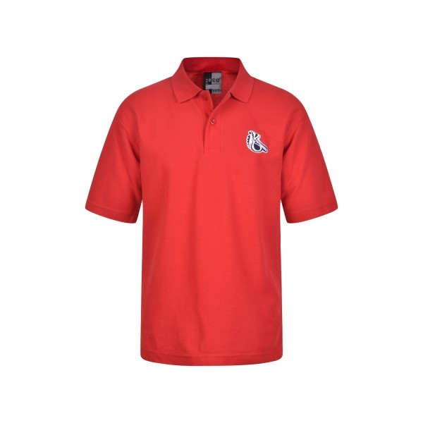 KELMSCOTT RED POLOSHIRT WITH LOGO
