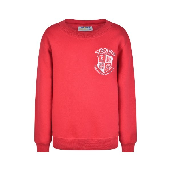 SYBOURN RED SWEATSHIRT WITH LOGO